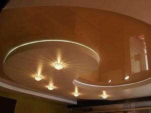 Двухуровневый натяжной потолок (спираль) - Фото 1
