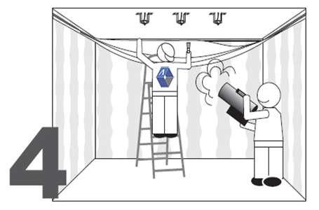 Монтаж натяжного потолка - установка потолка - фото 4
