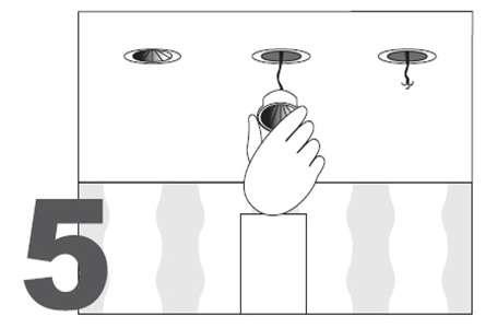 Монтаж натяжного потолка - монтаж осветительных приборов - фото 5