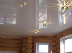 Натяжные потолки деревянный потолок - Фото 2