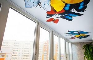 Натяжные потолки на балконе и лоджии - Фото 2