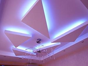 Натяжные потолки в гостиной - Фото 2