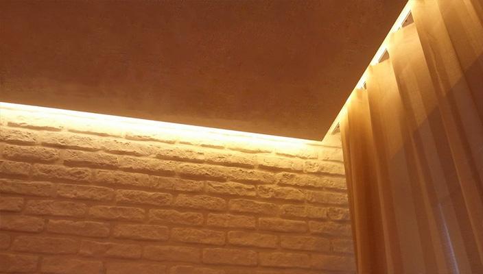 Скрытый карниз для натяжного потолка в СПБ для штор