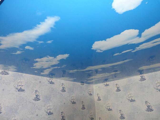 натяжные потолки небо с облаками фото